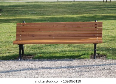 a bench in a park