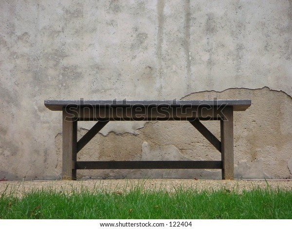 A bench in the Prague Castle (Hradcany Castle) in Czech Republic.
