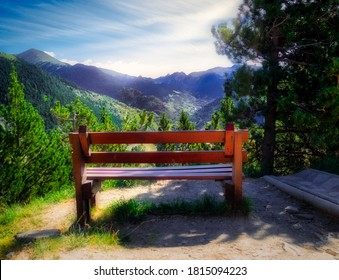 A bench at Roc del Quer at Andorra