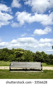 bench in rural setting