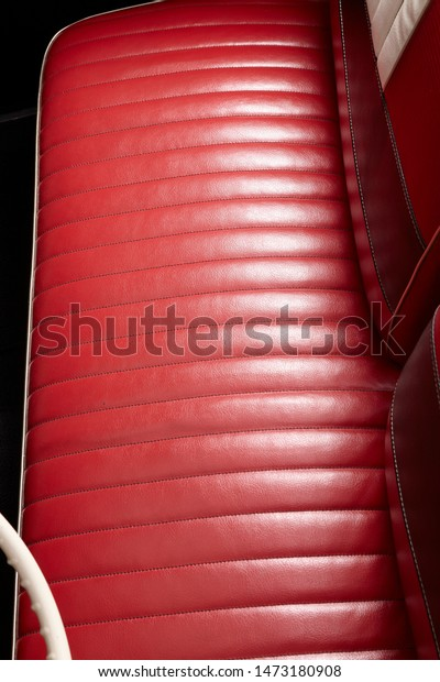 Amazing Bench Seat Red Leather Bench Front Stock Photo Edit Now Gmtry Best Dining Table And Chair Ideas Images Gmtryco