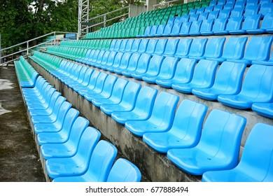 Bench seat watch in football stadium