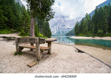 Bench with view at the lake