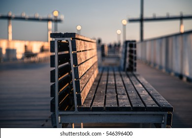 Benches at Coney Island Pier