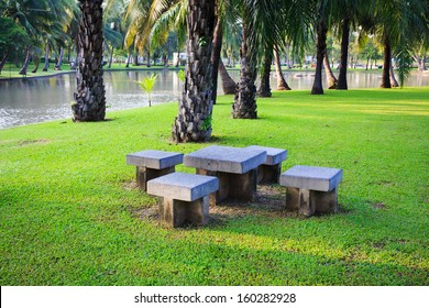 Benches in the Garden.