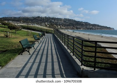 Benches at Miramar Park Overlooking Torrance State Beach, Los Angeles County, California