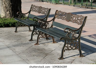 Benches at a park