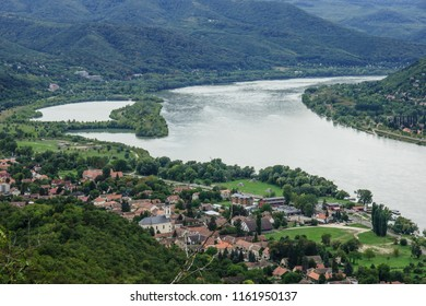 The bend of the Danube River. View from Visegrad, Hungary