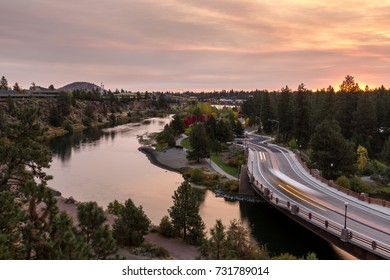 Bend Oregon Sunrise During Fall Morning