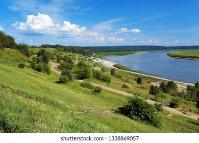 Bend of the Tom River in Tomsk, Siberia, Russia