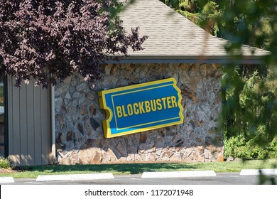 Bend, OR / USA - September 3 2018: Last remaining Blockbuster store in united states.
