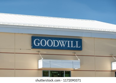 Bend, OR / USA - September 3 2018: Goodwill donation center and retail store.