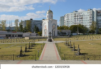 BENDER, MOLDOVA/TRANSNISTRIA - 7 OCTOBER 2018: A military cemetery with soldiers from many countries and many wars from Charles XII invasion in the 18th century to the Second World War.