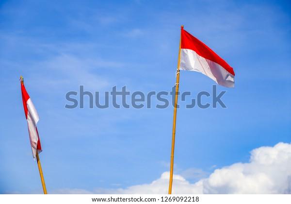 bendera merah putih indonesian national flag stock photo edit now 1269092218 shutterstock