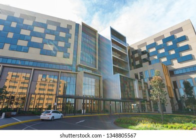 Bendigo, Australia - October 28, 2018: the new Bendigo Hospital was built in 2017 by Silver Thomas Hanley and Bates Smart. It is the largest regional hospital in Victoria.