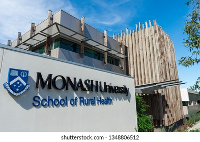 Bendigo, Australia - October 28, 2018: the Monash University School of Rural Health in Bendigo is part of the School of Public Health and Preventative Medicine.