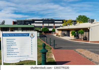 Bendigo, Australia - October 28, 2018: Bendigo Senior Secondary College is a public secondary school in central Bendigo.