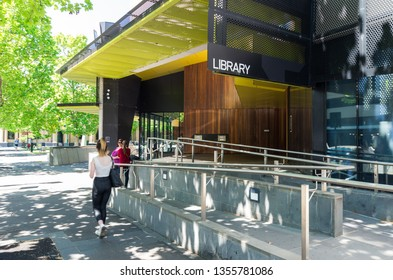 Bendigo, Australia - October 28, 2018: Bendigo Library was redesigned in 2014 by MGS Architects. It is part of Goldfields Libraries.