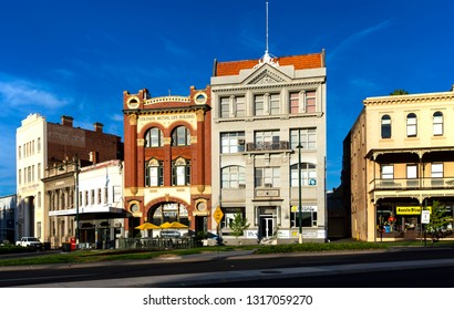 BENDIGO, VICTORIA, AUSTRALIA - 06 FEBRUARY 2019: Beautiful old historic buildings in the heart of Bendigo, relics of the city's rich gold rush history.