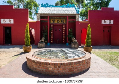 Bendigo, Victoria, Australia - February 28, 2017. Entrance to Joss House Temple in Bendigo, VIC.