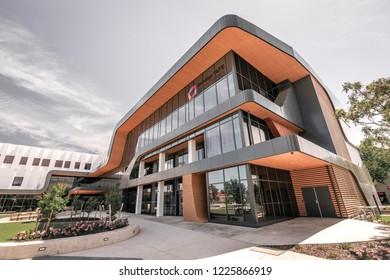 Bendigo, Victoria, Australia - Oct 28, 2018: Bendigo TAFE building