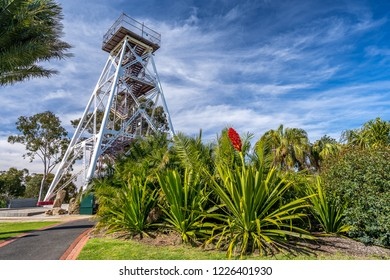Bendigo, Victoria, Australia - Oct 28, 2018: Bendigo Highest Point Tower