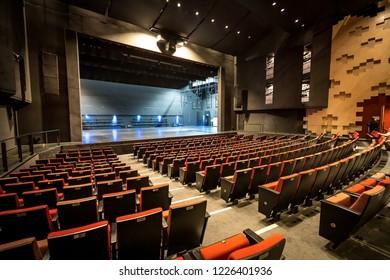 Bendigo, Victoria, Australia - Oct 28, 2018: Inside the Ulumbarra Theatre
