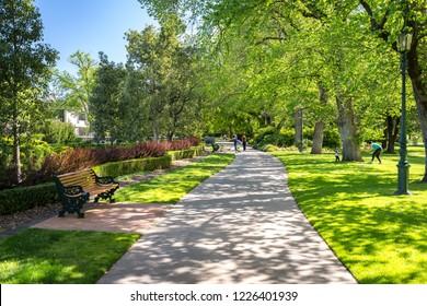 Bendigo, Victoria, Australia - Oct 28, 2018: Rosalind Park