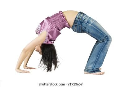 Are teen girls bent over backwards happens