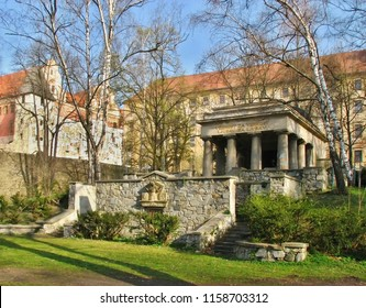 Beneath the historic city walls Olomouc in the park is a monument to the fallen South Slavic soldiers in the First World War.