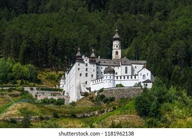The benedictine Abbey of Marienberg in Burgeis, Vinschgau, South Tyrol