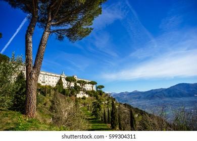 Benedictine Abbey -Montecassino in Italy