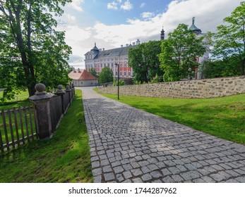 Benedictine cloister in Broumov town, Czech Republic