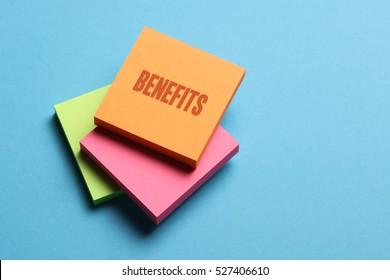 Benefits, Business Concept