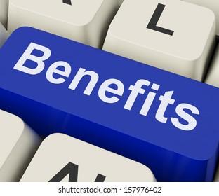 Benefits Key On Keyboard Meaning Advantage Or Reward