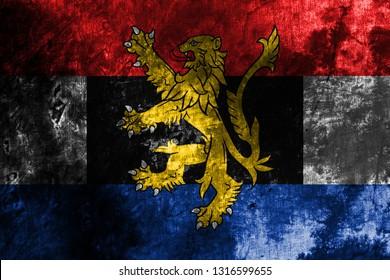 Benelux grunge flag,  politico-economic union of  Belgium, Netherlands, Luxembourg