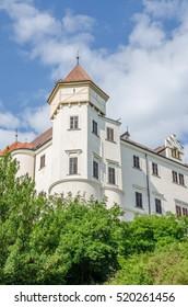BENESOV, CZECH REPUBLIC - JULY 12 2013: Historical chateau or castle Konopiste, last residence of Archduke Franz Ferdinand of Austria