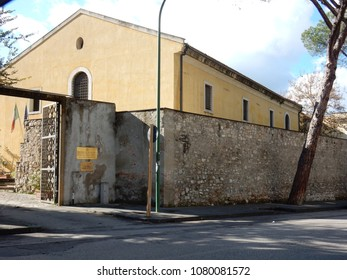 Benevento, Campania, Italy - November 9, 2016: the Operational Center of the Superintendence for the Environmental, Architectural, Artistic and Historical Heritage in Avenue Atlantiques