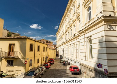 Benevento, Campania, Italy - October, 2018 - Ancient Prefecture Building in Benevento, Italy