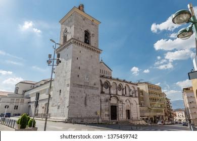 Benevento, Campania, Italy - October, 2018 - The Cathedral of Santa Maria d'Episcopio, Benevento, Italy