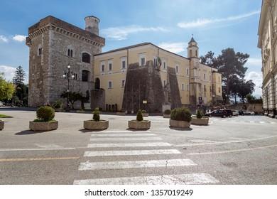 """Benevento, Campania, Italy - The Rectors Palace """"Rocca dei Rettori"""", located in """"Piazza IV Novembre"""", Benevento Castle"""