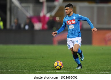Benevento Italy, February 4, 2018: Lorenzo Insigne of NAPOLI in action during football match serie A League 2018 between BENEVENTO vs SSC NAPOLI at Vigorito Stadium.