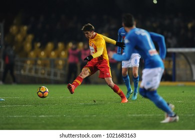 Benevento Italy, February 4, 2018: Filip Djuricic of BENEVENTO in action during football match serie A League 2018 between BENEVENTO vs SSC NAPOLI at Vigorito Stadium.