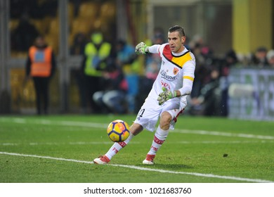 Benevento Italy, February 4, 2018: Christian Puggioni of BENEVENTO in action during football match serie A League 2018 between BENEVENTO vs SSC NAPOLI at Vigorito Stadium.