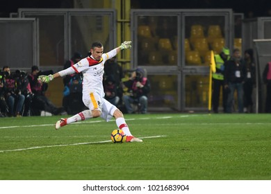 Benevento Italy, February 4, 2018: Christian Poggioni of BENEVENTO in action during football match serie A League 2018 between BENEVENTO vs SSC NAPOLI at Vigorito Stadium.