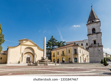 Benevento, Italy - October 2018 - Museum complex of the Church of Santa Sofia in Benevento, Campania, Italy, UNESCO world heritage