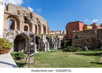 Benevento, Italy - October 2018 - The Roman Amphitheater in Benevento, Campania