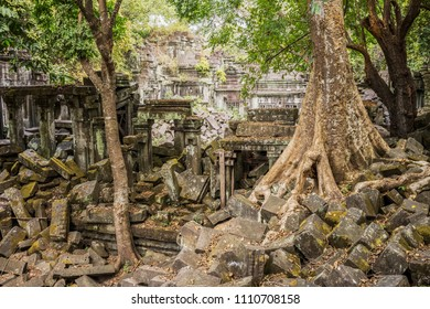 Beng Mealea is one of the most mysterious temples at Angkor, as nature has well and truly run riot. - Beng Mealea, Sien Reap, Cambodia.