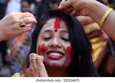 Sindur Khela Images, Stock Photos & Vectors   Shutterstock