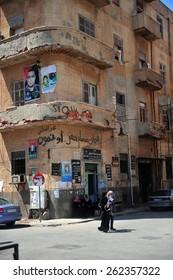 BENGHAZI - LIBYA  - APRIL  15, 2012: Benghazi city center after the Civil War on April  15, 2012  in Benghazi - Libya